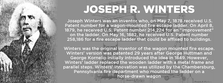 #DYK that Joseph R. Winters' ladder replaced the wooden ladder with a metal frame and parallel steps on horse-drawn wagons #TheMoreYouKnow #BlackHistoryMonth #NHCFR