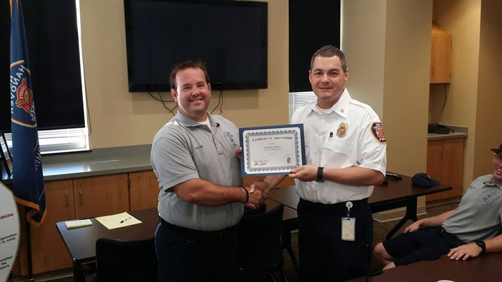 Congrats Captain Ben Bobzien for 15 years of service with NHCFR!
