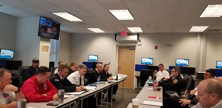 Joint Chief's meeting..working and planning with our partners! WilmingtonFD @CarolinaBeachNC @KureBeachNC @WrightsvilleNC @nhrmc  @NewHanoverEM