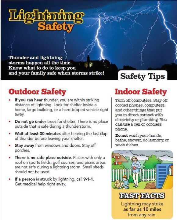 With the threat of thunderstorms heading our way please take a moment to learn more about lightning safety.  #NHCFR #NFPA #StaySafe